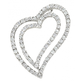 Andrew Meyer Diamond Freeform Heart Pendant 1.19 tcw (chain not included)