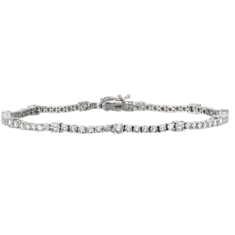Andrew Meyer Diamond Tennis Bracelet