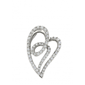 Andrew Meyer Diamond Abstracted Heart Pendant 1.06 tcw (chain not included)