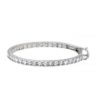 Andrew Meyer Diamond Hoop Earrings