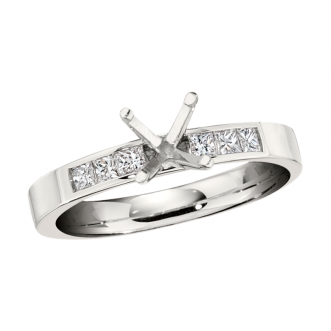 Andrew Meyer Diamond Engagement Semi-Mount Ring (center stones not included)