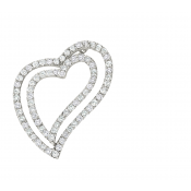 Andrew Meyer Diamond Freeform Heart Pendant 1.25 tcw (chain not included)