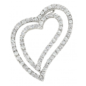 Andrew Meyer Diamond Freeform Heart Pendant 1.19 tcw (chain not included)