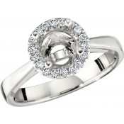 Andrew Meyer Diamond Engagement Semi-Mount Ring (center stones not included)