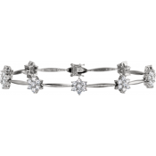 Andrew Meyer Diamond Flower Link Bracelet