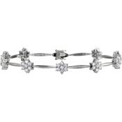 Andrew Meyer Diamond Flower Link Bracelet
