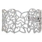 Andrew Meyer Diamond Leaf Motif Cuff Bracelet