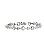 Andrew Meyer Diamond Cluster Link Bracelet