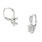 Andrew Meyer Diamond Semi-Mount Earrings