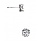 Andrew Meyer Diamond Flower Stud Earrings