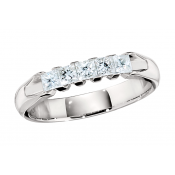 Andrew Meyer Bar-Set Wedding Band with Princess-Cut Diamonds