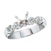 Andrew Meyer Ladies Diamond 4-Stone Semi-Mount Ring