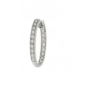 Andrew Meyer Diamond Hoop Earrings